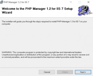 PHPManagerError10_5