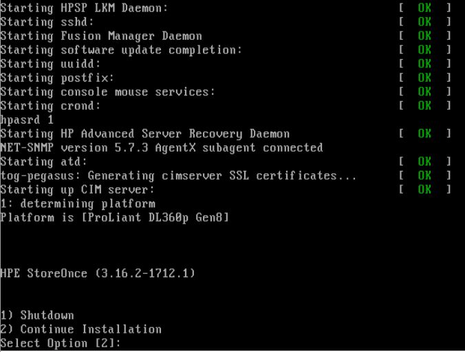 How to reinstall HP StoreOnce 2700 OS | IT Blog