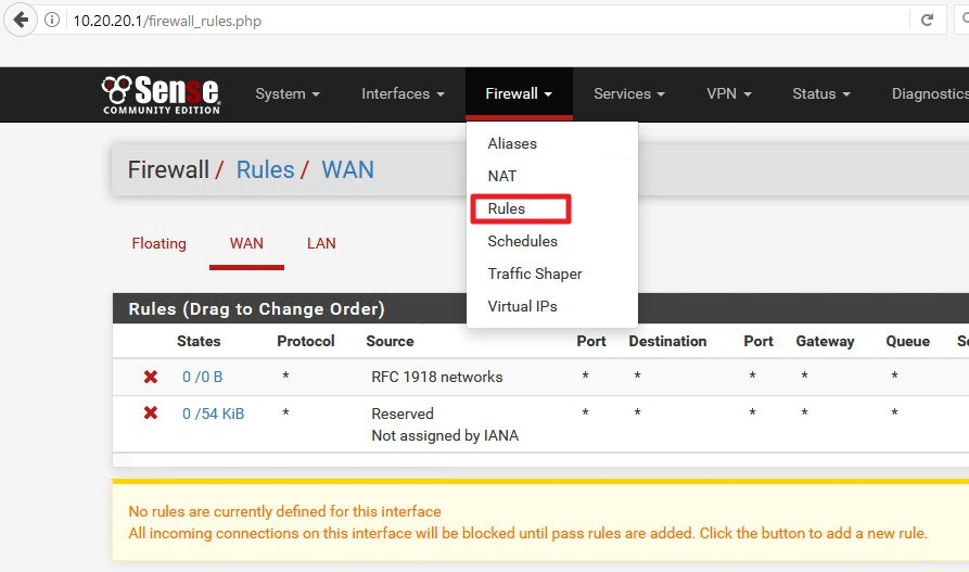 How to define firewall rules on pFSense | IT Blog