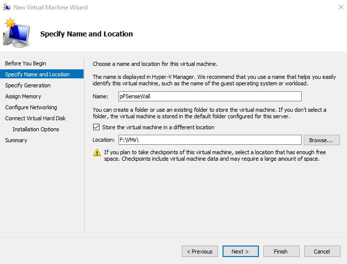 How to install pFSense on Hyper-V | IT Blog