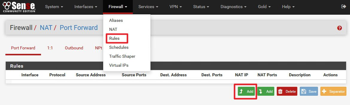 Pfsense Management Port