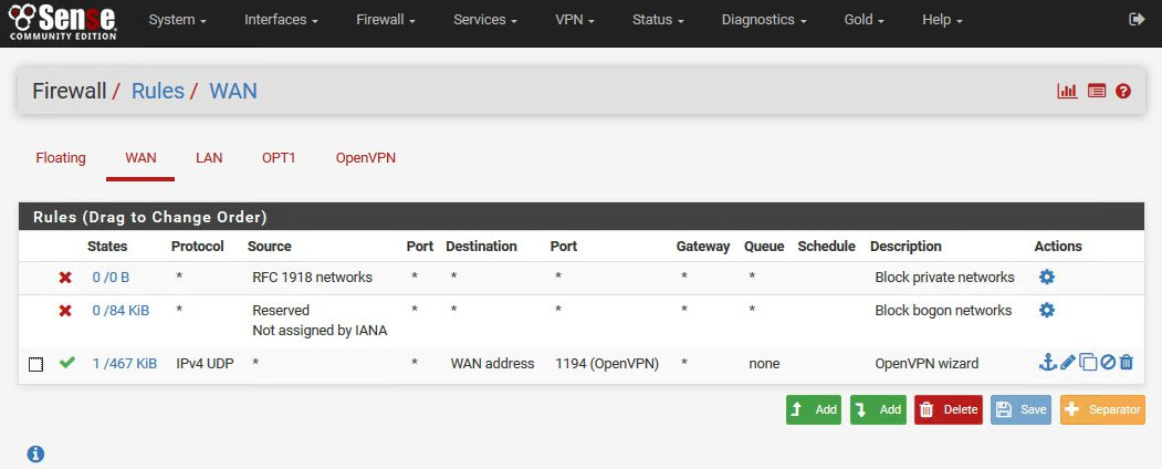 OpenVPN on pFSense: Enable access to the LAN resources | IT Blog