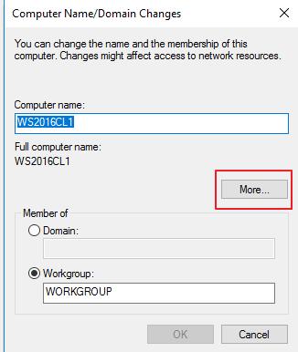 Windows Server 2016 Workgroup Cluster | IT Blog